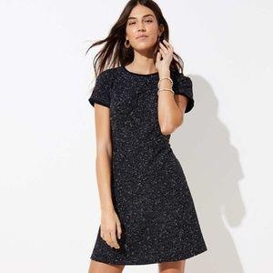 LOFT BOUCLE SHIFT DRESS